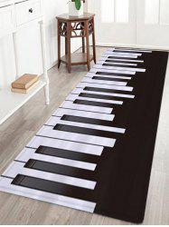 Piano Pattern Anti-skid Water Absorption Area Rug - Black White - W24 Inch * L71 Inch