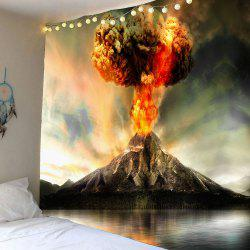 Home Decor Nature Volcano Erupting Wall Tapestry