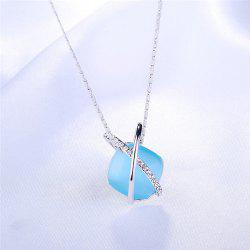 Rhinestone Faux Gem Collarbone Necklace