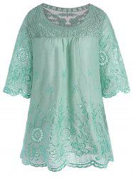 Embroidered Plus Size Tunic Top