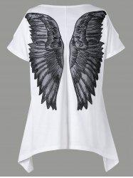 Cold Shoulder Appliqued Wings T-shirt