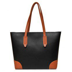 Faux Leather Shopper Bag avec embrayage -