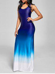Ombre Racerback Maxi Tank Dress