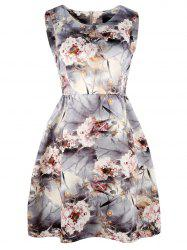 Blomming Floral Jersey Mini A Line Dress