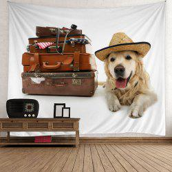 Home Decor Suitcase Dog Print Wall Art Tapestry
