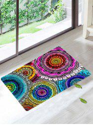 Mandala Coral Velvet Antiskid Door Entrance Rug