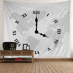 Roman Numerals Clock Print Wall Hanging Tapestry