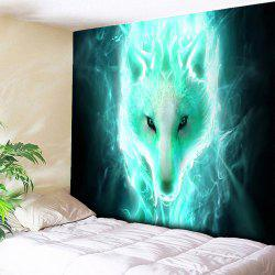 Wall Hanging Tapis imprimé Flash Wolf - Multicolore