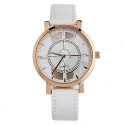 Hollow Out Faux Leather Strap Watch