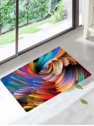 Home Entrance Colorful Vortex Bath Rug