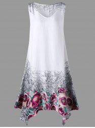 Floral Plus Size Handkerchief Tank Dress
