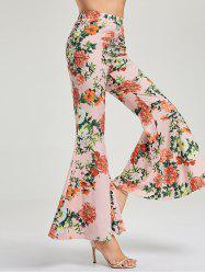 Floral High Waist Flare Pants