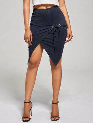 Overlap Asymmetric Fitted Skirt
