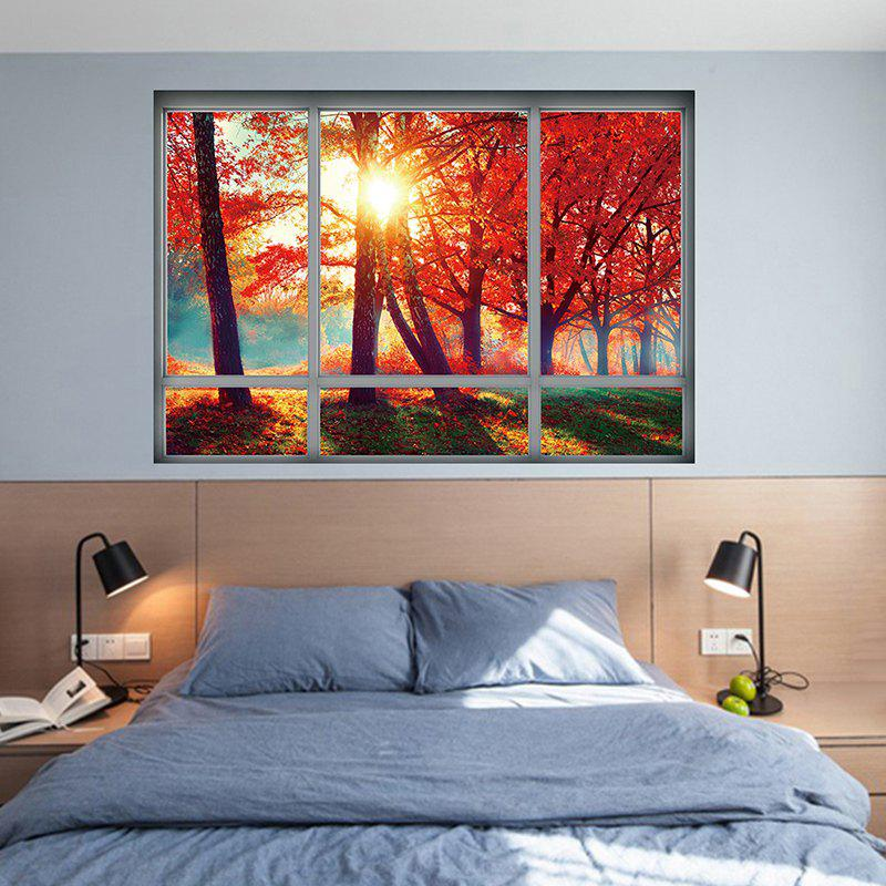 Home Decoration Autumn Scenery 3D Wall StickerHOME<br><br>Size: 48.5*68CM; Color: JACINTH; Wall Sticker Type: 3D Wall Stickers; Functions: Decorative Wall Stickers; Theme: Landscape; Material: PVC; Feature: Removable; Weight: 0.2045kg; Package Contents: 1 x Wall Sticker;