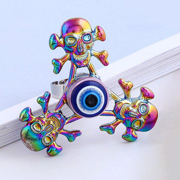 Skull Crossbones EDC Hand Fidget Spinner RingJEWELRY<br><br>Color: COLORMIX; Gender: Unisex; Metal Type: Alloy; Style: Trendy; Shape/Pattern: Fidget Spinner,Skull; Weight: 0.0700kg; Package Contents: 1 x Fidget Spinner Ring;