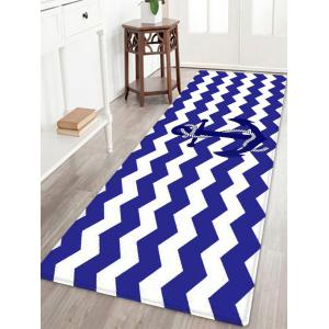Nautical Anchor Zig-zag Pattern Anti-skid Water Absorption Area Rug