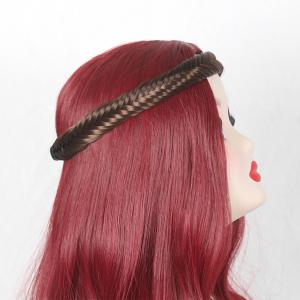 Fishbone Shaped Colormix Braided Headband Hair Extension