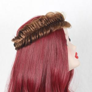Fishbone Shape Large Colormix Braided Headband Hair Extension
