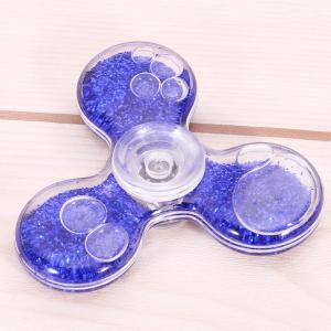 Flowing Glitter Powder Plastic Fidget Spinner Fiddle Toy - BLUE