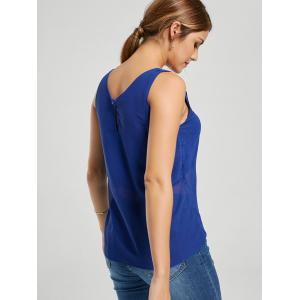 Lace-up Tank Top - BLUE 2XL