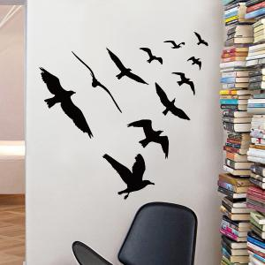Birds Group Decorative Removable Wall Sticker -