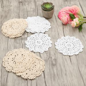10 PCS Home Decor en forme de croix à la main - Blanc + Beige