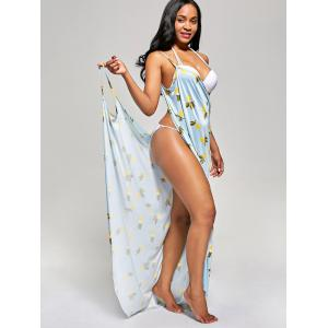 Pineapple Wrap Cover Up Maxi Dress -