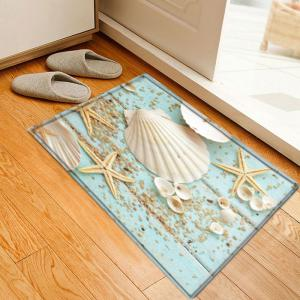 Shell Starfish Deck Pattern Anti-skid Water Absorption Area Rug - Colormix - W16 Inch * L24 Inch