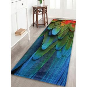 Feather Pattern Extra Large Home Floor Rug - Colormix - W24 Inch * L71 Inch