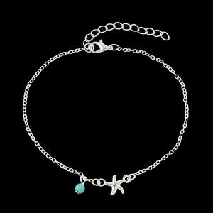 Charm Faux Turquoise Starfish Anklet