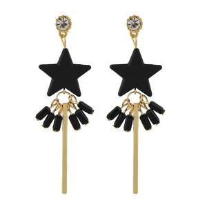 Rhinestone Star Bar Earrings