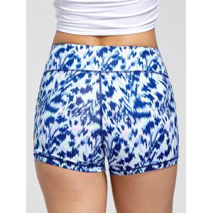 Sports Tie Dye Print Mini Leggings Shorts -