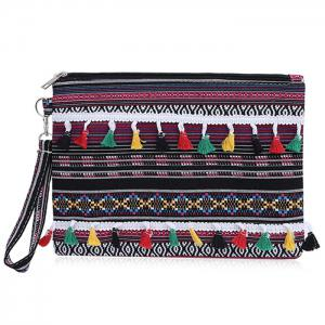 Tribal Canvas Clutch Bag