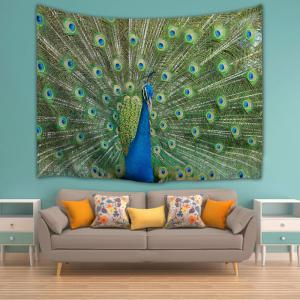 Peacock Wall Hanging Throw Literie Couverture Couverture -