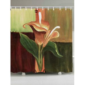 Oil Painting Floral Waterproof Fabric Shower Curtain - Colorful - W71 Inch * L79 Inch