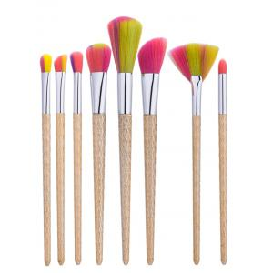 8Pcs Wave Handle Nylon Makeup Brushes Set