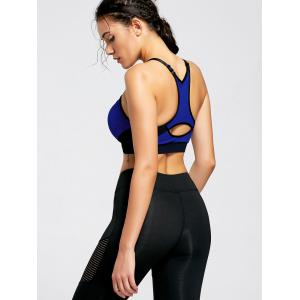 Front Zip Sports Bra with Padded -