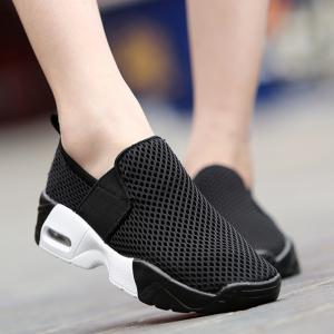 Breathable Elastic Band Mesh Athletic Shoes - BLACK 37