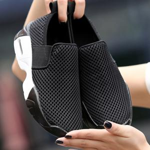 Breathable Elastic Band Mesh Athletic Shoes -
