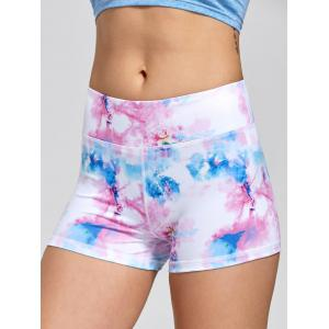 Sports Tie Dye  Mini Shorts -