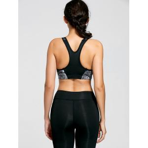 Ink Painting Padded Sports Bra -