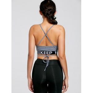Backless Strappy Wrap Crop Tank Top -