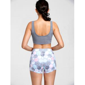 Active Cropped Front Tie Tank Top -