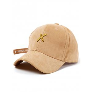 Cross Embroidered Long Tail Baseball Cap