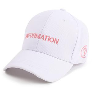 Letters Question Mark Embellished Baseball Cap - White