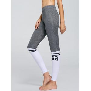 Numbers Graphic Contrast Yoga Tights