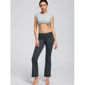 T-shirt de culture Active Ribbed Crop - Cendre M