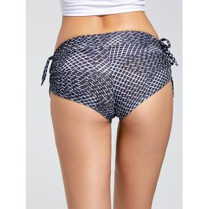 Side Drawstring Printed Mini Running Shorts -