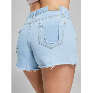 Shorts en denim à haute taille - Denim Bleu XL