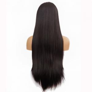 Free Part Long Straight Lace Front Synthetic Wig -